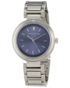 Women's Blue Sunray-Dial Stainless Steel Watch