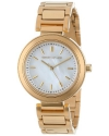 Women's Mother of Pearl Gold Dress Watch