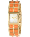 Women's 1500 Series Mother-Of-Pearl Dial Gold Ion-Plated Stainless Steel and Coral Resin Watch