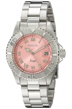 Women's Angel Analog Display Swiss Quartz Silver Watch