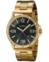 Men's Analog Display Japanese Quartz Yellow Gold Watch