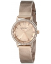 Women's Rose Gold-Tone Watch with Mesh Band