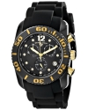 Men's Commander Diamonds Analog Display Swiss Quartz Black Watch