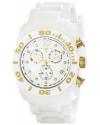 Men's Commander Diamonds Analog Display Swiss Quartz White Watch