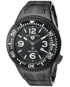 Men's Neptune Force Black Ion-Plated Stainless Steel Watch