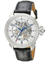 Men's Trevi Analog Display Mechanical Hand Wind Black Watch