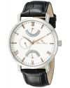Men's  Verona Stainless Steel Watch With Black Leather Band