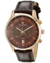 Men's Navona Analog Display Quartz Brown Watch