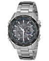 Men's Edifice Tough Solar Stainless Steel Multi-Function Watch with Link Bracelet