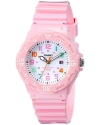 Women's Pink Stainless Steel Watch with Resin Band