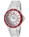 a_line Women's 80009-22-RD Marina White Textured Dial Stainless Steel Watch