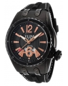 Men's Genesis Vision Analog Display Swiss Quartz Black Watch