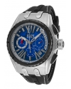 Men's Genesis Analog Display Swiss Quartz Black Watch