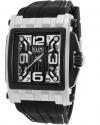 Men's Captain Analog Display Swiss Quartz Black Watch