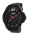 Men's  Black Zone Analog Display Quartz Black Watch