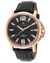 Men's Triomf Analog Display Quartz Black Watch