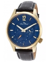 Men's Burano Analog Display Quartz Black Watch