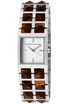 Womens Series Stainless Steel Tortoise Resin White Dial