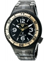 Men's Neptune Force Analog Display Swiss Quartz Black Watch