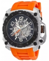 Men's The General Prime Analog Display Automatic Self Wind Orange Watch