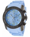 Commander SL-10067-GM-012 Chrono Light Blue Silicone and Dial Gunmetal IP Steel Case