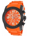 Men's Commander Chronograph Orange Silicone Orange Dial