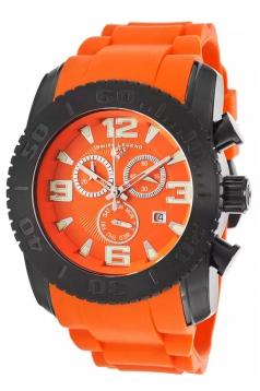 Men's Commander Chronograph Orange Silicone Orange Dial