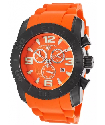 Commander SL-10067-GM-06 Chronograph Orange Silicone Orange Dial