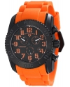 Men's  Commander Analog Display Swiss Quartz Orange Watch