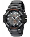 Men's Heavy Duty Design Watch with Black Silicone Band Watch