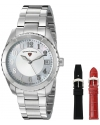 Women's Sea Breeze Analog Display Swiss Quartz Silver Watch