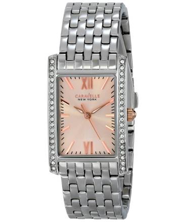 Women's 45L140 Swarovski Crystal-Accented Stainless Steel Watch