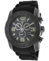 Men's Commander Analog Display Swiss Quartz Black Watch