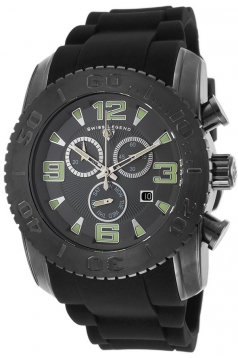Swiss Legend Men's 10067-GM-014-BLK Commander Analog Display Swiss Quartz Black Watch