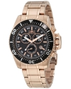 Men's Pro Diver Chronograph Black Carbon Fiber Dial 18k Rose Gold Ion-Plated Stainless Steel Watch
