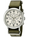 Men's Weekender Collection Round Watch with Green Band