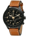 Men's Intelligent Quartz SL Series Fly-Back Chronograph Brown Leather Strap Watch