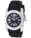 Women's Commander Black Polyurethane And Stainless Steel Watch