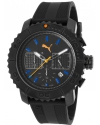 Men's Chronograph RubbBlaer And Case Black Watch