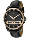 Men's Bosphorus Quartz Stainless Steel And Black Leather Casual Watch