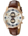 Men's Bosphorus Quartz Stainless Steel And Brown Leather Casual Watch