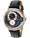 Men's Supernova Automatic Stainless Steel And Black Leather Casual Watch