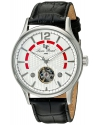 Men's Transway Automatic Stainless Steel And Black Leather Casual Watch