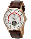 Men's Transway  Automatic Stainless Steel And Brown Leather Casual Watch