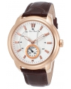 Men's Duval Quartz Stainless Steel And Leather Automatic Watch Color Brown