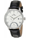 Men's Volos Quartz Stainless Steel and Black Leather Casual Watch