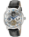Men's Legacy  Automatic Self Wind Black Genuine Leather Strap Watch