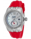 Women's 'Genesis Vision' Swiss Quartz Stainless Steel And Silicone Automatic Watch Color Red