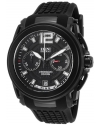 Men's 'King' Swiss Quartz Stainless Steel And Silicone Automatic Watch Color Black