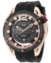 Men's 'Master Ghost' Swiss Quartz Stainless Steel And Silicone Automatic Watch Color Black